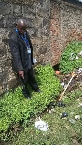 Identification of visible leaks during a CIS in Kericho Town, Kenya- June 2015