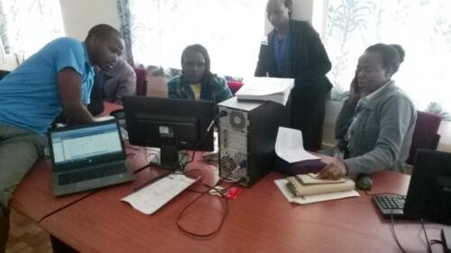 CIS Data analysis induction training at Kericho Water offices, Kericho, Kenya in June 2015