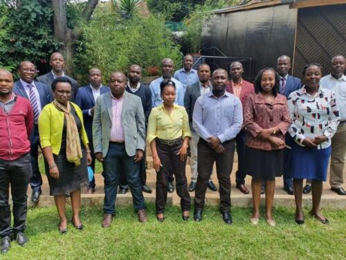 Participants from AWWL, WSTF, KMT and WSPs during WASPA Benchmarking Meeting on 15th October 2020 in Naukuru AWWL Presented Findings and Recommendations on Pilot Data Management Processes Study of the Kenya Water Sector